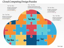 Cloud Computing Design Puzzles Flat Powerpoint Design