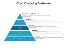 Cloud Computing Enablement Ppt Powerpoint Presentation Layouts Icon Cpb