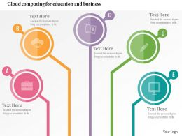 Cloud Computing For Education And Business Flat Powerpoint Design