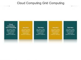Cloud Computing Grid Computing Ppt Powerpoint Presentation Slides Structure Cpb