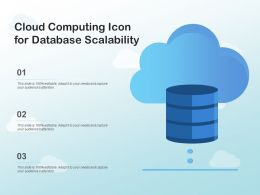 Cloud Computing Icon For Database Scalability