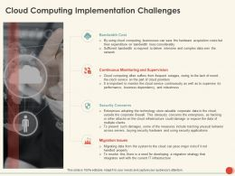 Cloud Computing Implementation Challenges Ppt Powerpoint Presentation Show