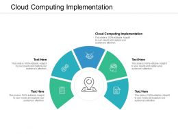 Cloud Computing Implementation Ppt Powerpoint Presentation Portfolio Visual Aids Cpb