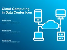 Cloud Computing In Data Center Icon