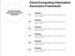 Cloud Computing Information Assurance Framework Ppt Powerpoint Presentation Portfolio Cpb