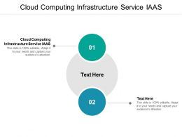 Cloud Computing Infrastructure Service Iaas Ppt Powerpoint Presentation Visual Aids Pictures Cpb