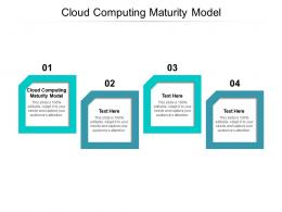 Cloud Computing Maturity Model Ppt Powerpoint Presentation Model Infographics Cpb