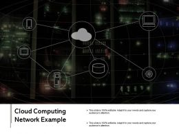 Cloud Computing Network Example