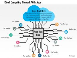 Cloud Computing Network With Apps Powerpoint Template