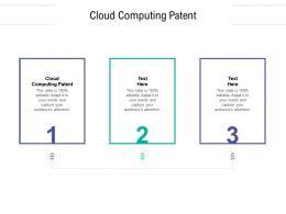 Cloud Computing Patent Ppt Powerpoint Presentation Portfolio Show Cpb