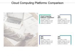 Cloud Computing Platforms Comparison Ppt Powerpoint Presentation File Gallery Cpb