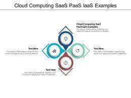 Cloud Computing SaaS PaaS IaaS Examples Ppt Powerpoint Presentation Model Vector Cpb