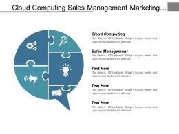 Cloud Computing Sales Management Marketing Management Workforce Management Cpb