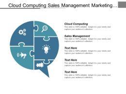 Cloud Computing Sales Management Marketing Management Workforce Management Cpb