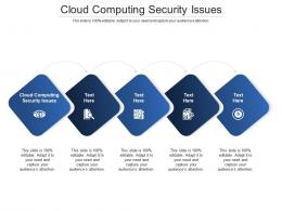 Cloud Computing Security Issues Ppt Powerpoint Presentation Slides Grid Cpb