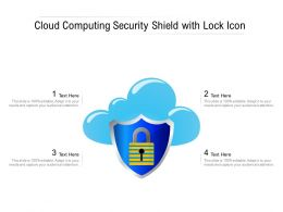 Cloud Computing Security Shield With Lock Icon