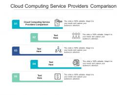 Cloud Computing Service Providers Comparison Ppt Powerpoint Presentation Infographic Template Cpb
