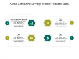 Cloud Computing Services Models Features SaaS Ppt Powerpoint Presentation Icon Influencers Cpb