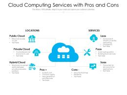 Cloud Computing Services With Pros And Cons