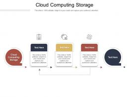 Cloud Computing Storage Ppt Powerpoint Presentation Model Template Cpb