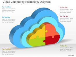 Cloud Computing Technology Diagram Powerpoint Templates