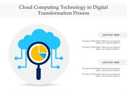 Cloud Computing Technology In Digital Transformation Process