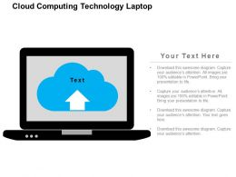 Cloud Computing Technology Laptop Flat Powerpoint Design