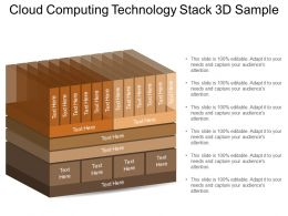 Cloud Computing Technology Stack 3d Sample