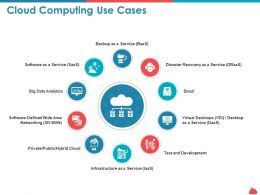 Cloud Computing Use Cases Development Ppt Powerpoint Presentation Show