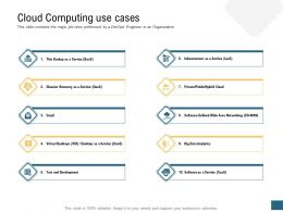 Cloud Computing Use Cases Devops Ppt Summary