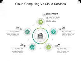 Cloud Computing Vs Cloud Services Ppt Powerpoint Presentation Slides Graphics Template Cpb