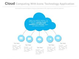 Cloud Computing With Icons Technology Application Flat Powerpoint Design