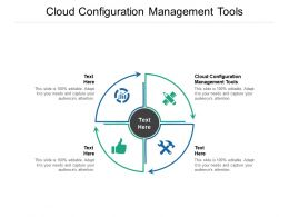 Cloud Configuration Management Tools Ppt Powerpoint Presentation Model Infographic Template Cpb