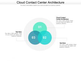 Cloud Contact Center Architecture Ppt Powerpoint Presentation Gallery Icons Cpb