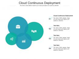 Cloud Continuous Deployment Ppt Powerpoint Presentation Styles Slide Cpb