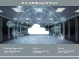 Cloud Cost Management Tools Ppt Powerpoint Presentation Infographic Cpb