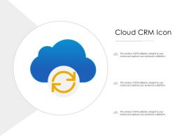 Cloud CRM Icon