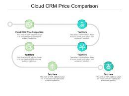 Cloud CRM Price Comparison Ppt Powerpoint Presentation Summary Portrait Cpb
