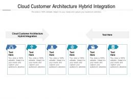 Cloud Customer Architecture Hybrid Integration Ppt Powerpoint Presentation Gallery Images Cpb