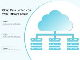 Cloud Data Center Icon With Different Stacks