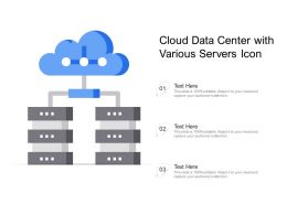Cloud Data Center With Various Servers Icon