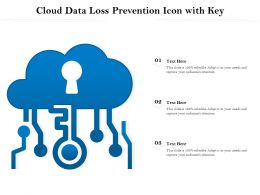 Cloud Data Loss Prevention Icon With Key