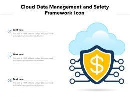 Cloud Data Management And Safety Framework Icon
