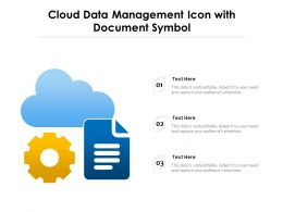 Cloud Data Management Icon With Document Symbol