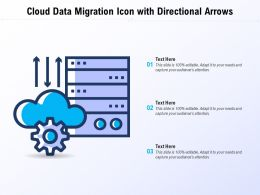 Cloud Data Migration Icon With Directional Arrows