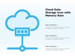 Cloud Data Storage Icon With Memory Ram