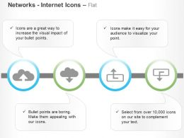 Cloud Data Upload Download Process Flow Ppt Icons Graphics