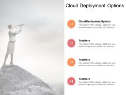 Cloud Deployment Options Ppt Powerpoint Presentation Summary Ideas Cpb