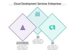 Cloud Development Services Enterprises Ppt Powerpoint Presentation Inspiration Show Cpb