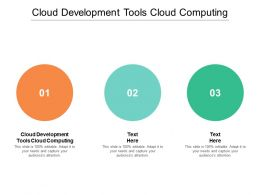 Cloud Development Tools Cloud Computing Ppt Powerpoint Presentation Model Themes Cpb